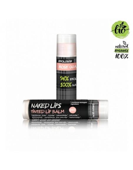 Naked Lips Organic Lip Balm Rose Quartz tinted