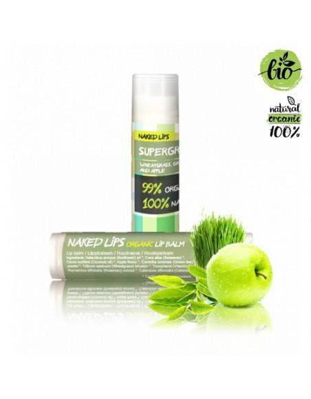 Baume à lèvres bio et naturel Supergreens