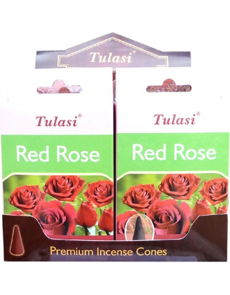 Incense cone red roses TULASI SARATHI