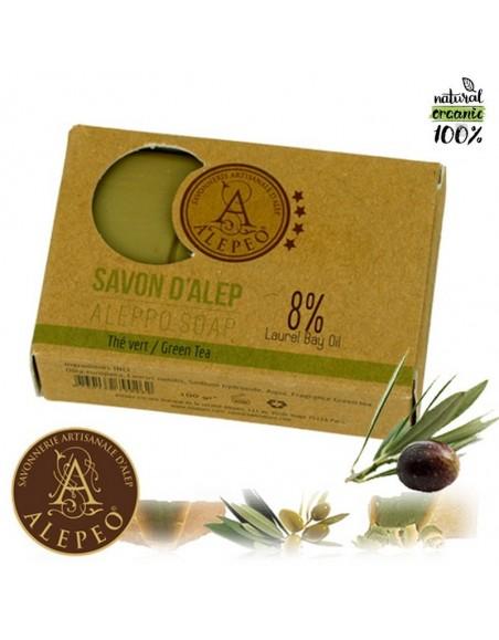 Aleppo soap green tea