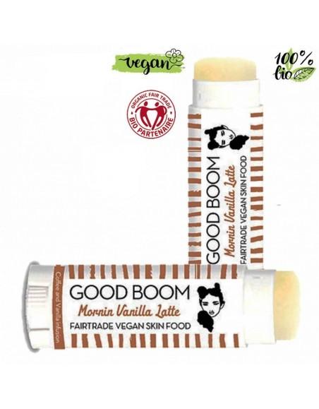 Good Boom Organic Vegan Lipbalm Morning Vanilla Latte