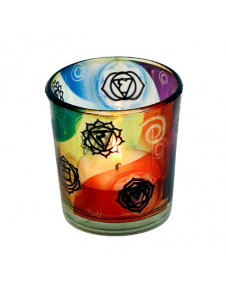 Candle light holder 7 Chakra's