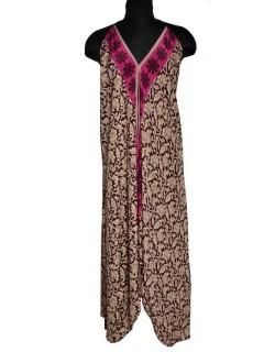 b487dcb6b36 Asymmetric bohemian summer dress in recycled sari silk.