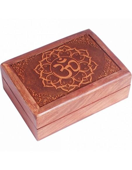 Boîte à tarots Om en bois