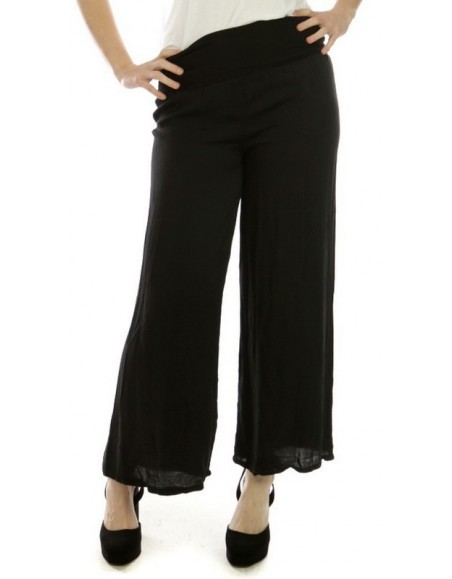 2263bf8068da Pantalon fluide noir en viscose - Boutique Kementari