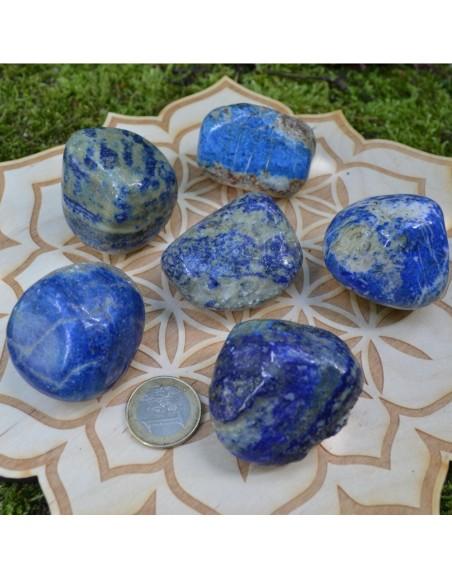 Lapis Lazuli - galet large roulé - 85 à 95 gr