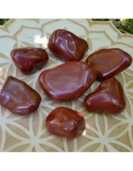 Jaspe rouge - pierre roulée - 20 à 30 gr