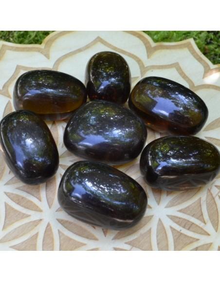 Obsidienne fumée - Pierre roulée- 20 à 30 gr