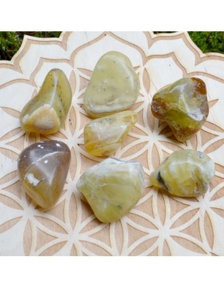 Opale jaune - Pierre roulée - 10 à 20 gr