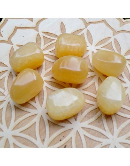 Calcite jaune - Pierre roulée - 10 à 20 gr