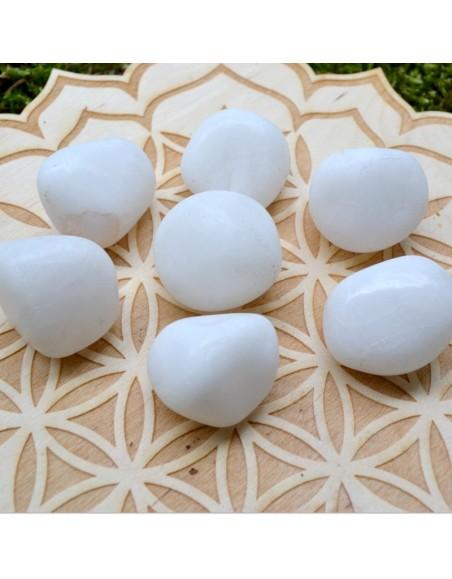 Agate blanche - Pierre roulée - 20 à 30 gr