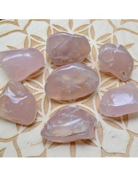 Calcédoine rose B - Pierre roulée - 25 à 35 gr