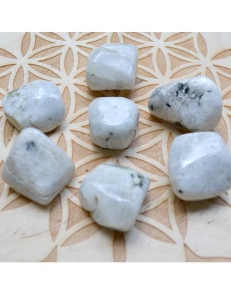 Pierre de lune - labradorite blanche roulée 10 à 20 gr
