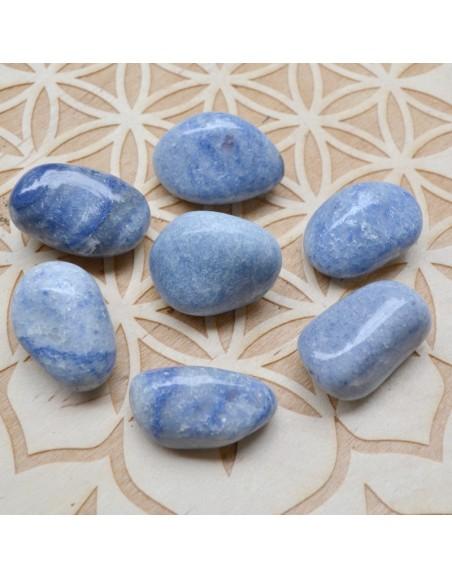 Quartz bleu - Pierre roulée - 05 à 15 gr