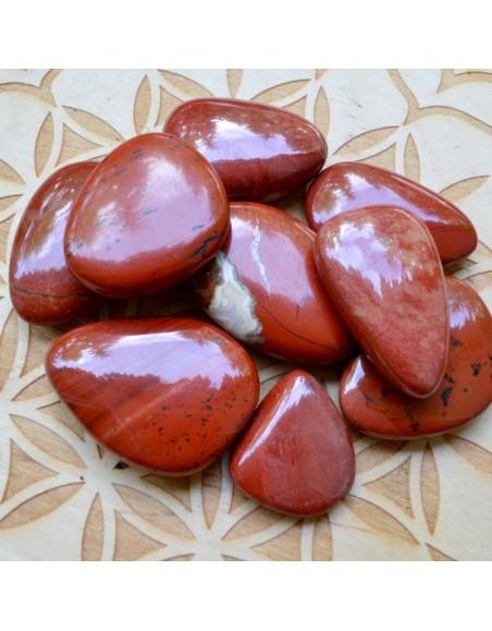Jaspe Rouge - Galet plat - 15 à 25 gr