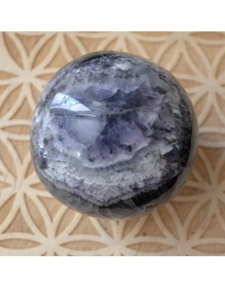 Sphère de Fluorite verte et mauve - 285 gr