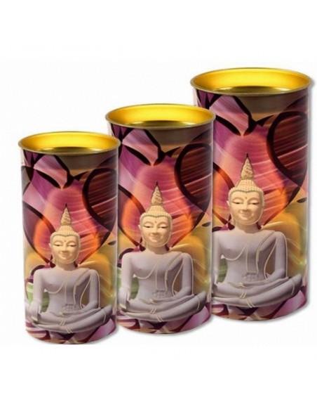 Bougie dévotion paraffine Bouddha en Méditation