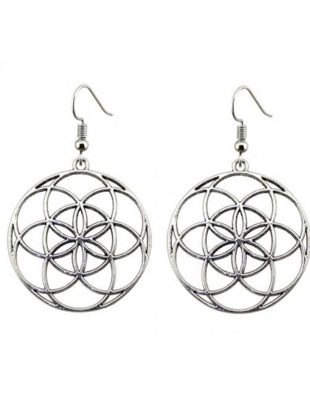 Boucle d'oreille géométrie sacrée