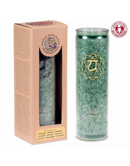 Aromatic Candle stearin 4th Chakra 100 hours