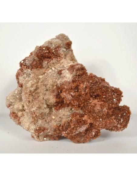 Géode aragonite cristaux bruns 780 gr