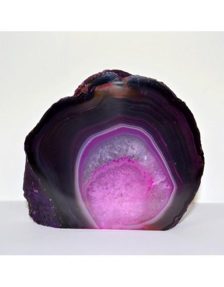 Forme libre agate violette et rose 500 gr