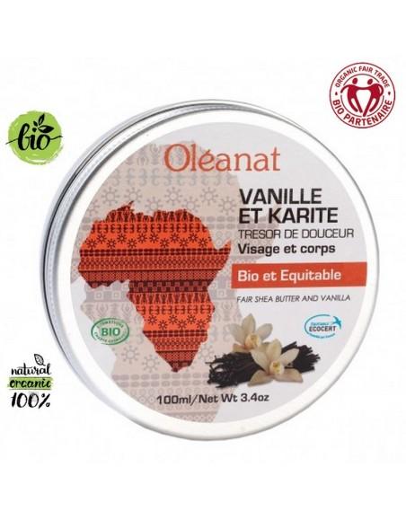 Baume vanille et karité bio équitable Oléanat