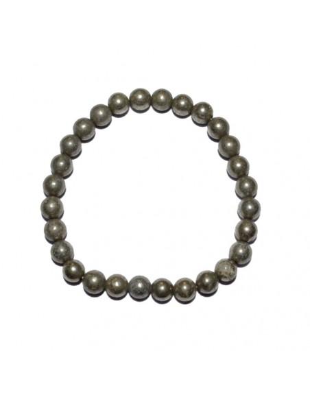Bracelet en perles de Pyrite