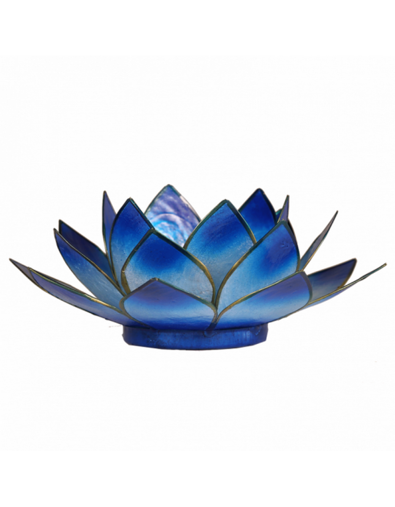 Bougeoir Fleur De Lotus Bleu Boutique Kementari