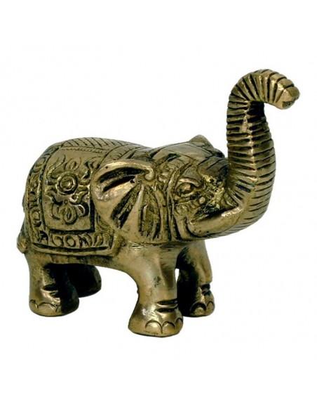 Mini statuette Eléphant laiton