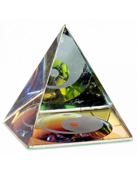 Pyramide de Cristal Yin Yang
