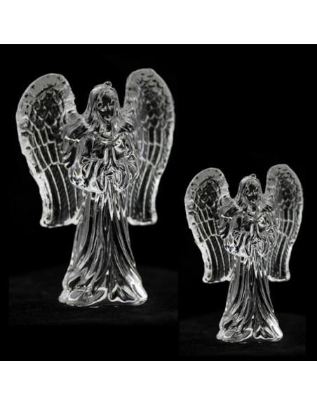 Ange de verre avec les ailes givrées
