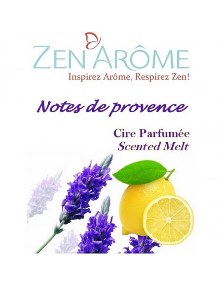Cire parfumée Notes de Provence pour diffuseur