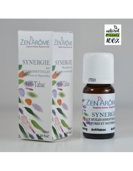 Synergie d'huiles essentielles ANTI TABAC