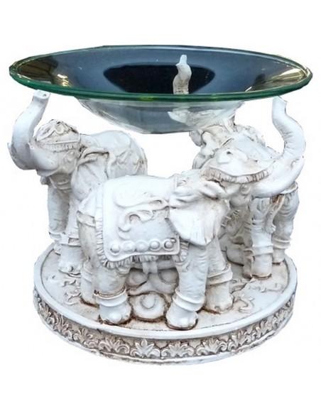 Brûle parfum éléphants blancs