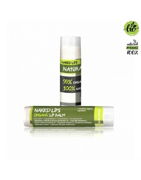 Naked Lips Organic Lip Balm Natural