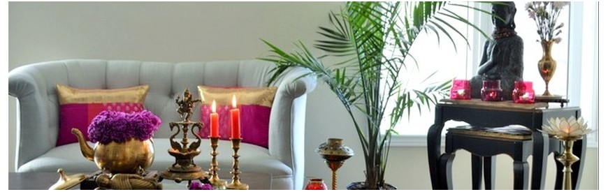 Zen atmosphere and feng shui deco