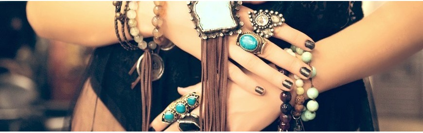 Ethnic and bohemian jewelry