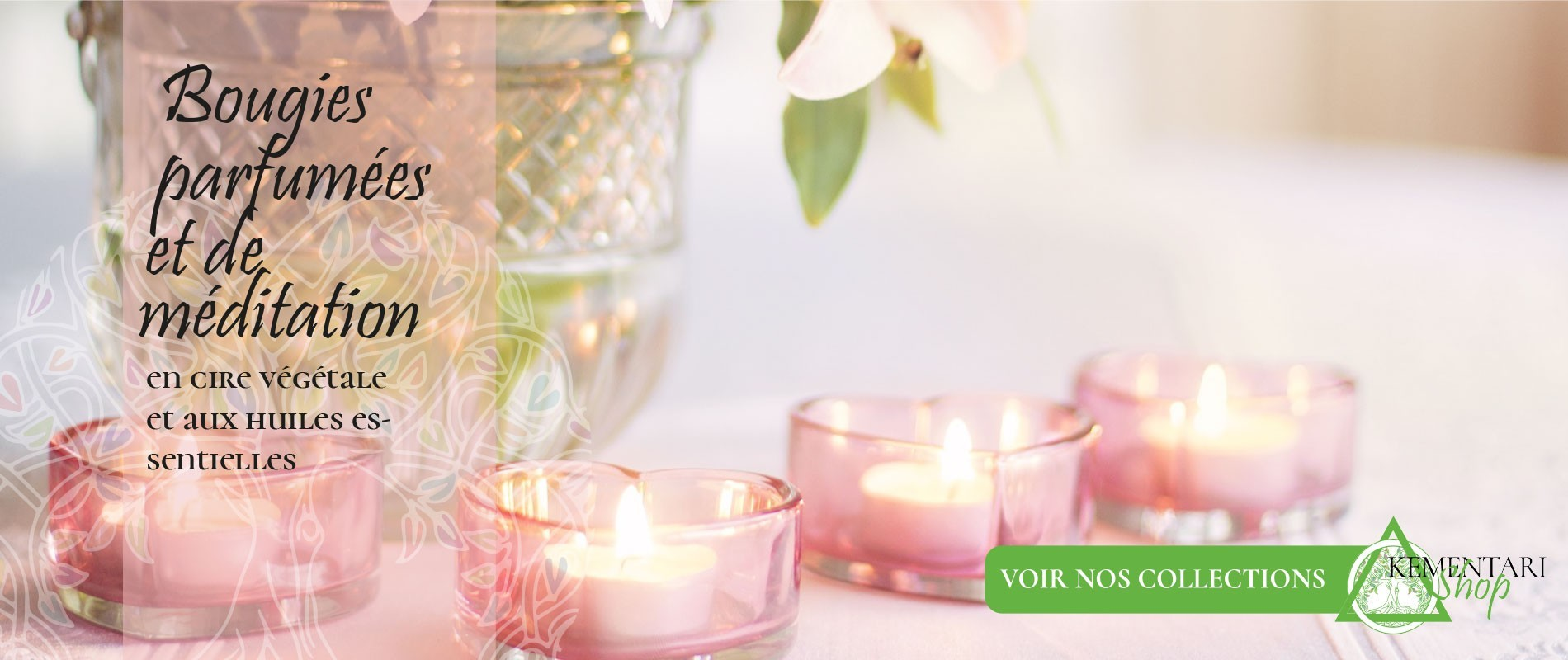 Bougies parfumées et bougies méditation